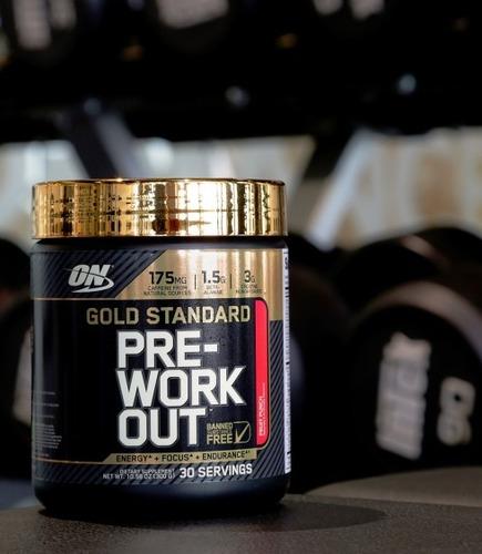 pre treino - optimum nutrition on - gold standard - 30 doses