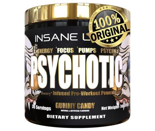 pré treino psychotic gold insane labz - importado- original!