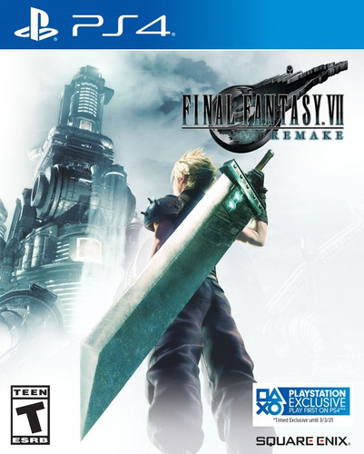 pré venda final fantasy 7 remake + dlc - ps4 - mídia física