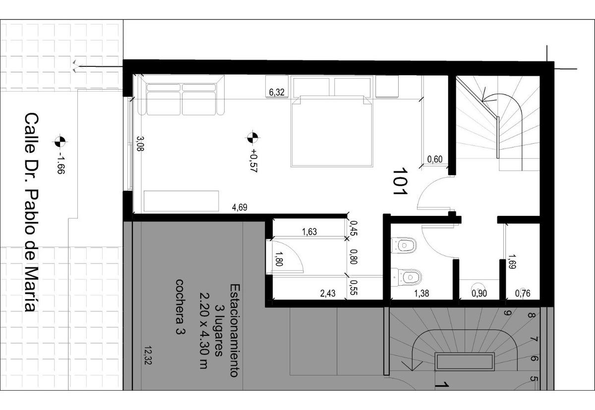 pre venta en pozo. edificio rodó park.duplex 2 dorm.3 baños