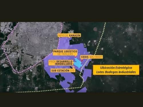 pre venta lotes para bodega-industrial a 10 km del periférico y a 350 mts de carretera mérida-cancun