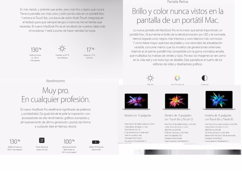 pre venta macbook pro 13/15  early 2017 entrega 15 de agosto