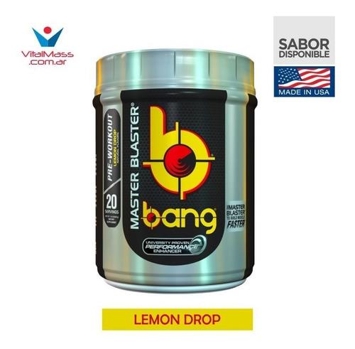 pre-workout master blaster bang x 534 grs by vpx usa!! el mas potente!! envio sin cargo a todo el pais!!