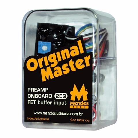preamp original master 2eq com chave bypass ativo/passivo