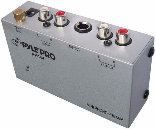 preamplificador phono para tornamesas pyle pp 444