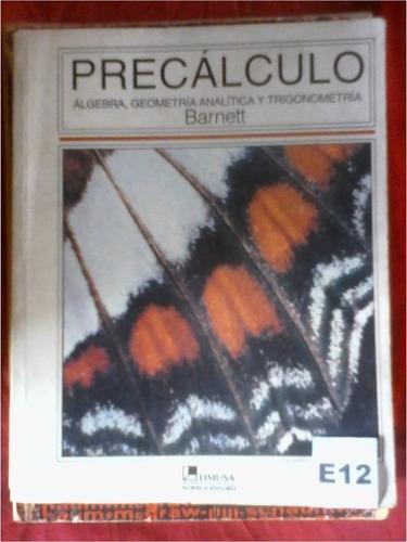 precalculo barnet algebra geometria analitica trigonometria