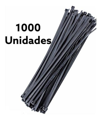precinto 3,6 x 300mm nylon negro - 1000 unidades