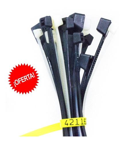 precinto prensacable plástic nylon 3,6mmx18cm x1000un oferta
