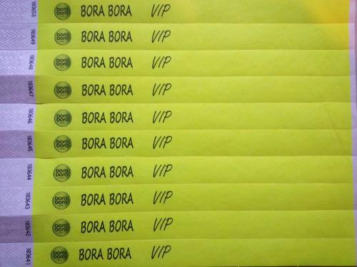precinto pulsera boliches impresión personalizada  x100u