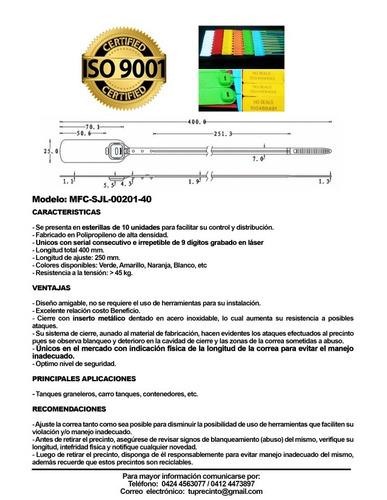 precintos de acero y prolipropileno de alta densidad.iso9001