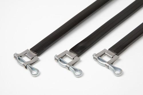 precintos metálico con vaina de pvc 400mm x 100 unid c/envío