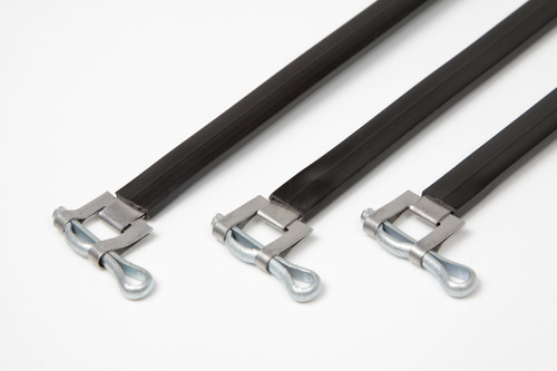 precintos metálico con vaina de pvc 500mm x 100 unid c/envío