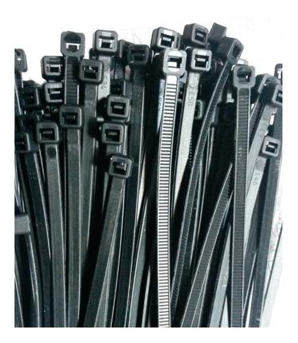 precintos plasticos inteck 100 unidades 300mm x 4,8mm (30cm)