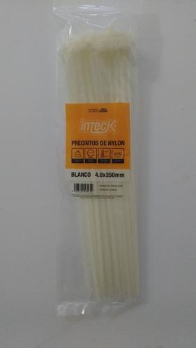 precintos plasticos inteck 100 unidades 350mm x 4,8mm (35cm)