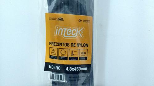 precintos plasticos inteck 100 unidades 450mm x 4,8mm (45cm)