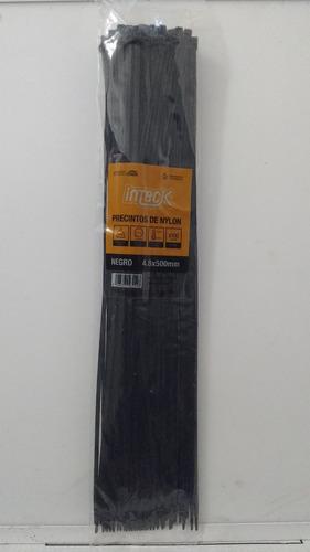 precintos plasticos inteck 100 unidades 500mm x 4,8mm (50cm)