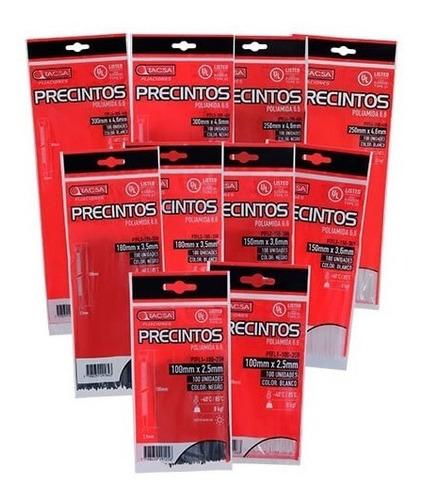 precintos plasticos tacsa 100 unidades 400mm x 4,6mm (40cm)