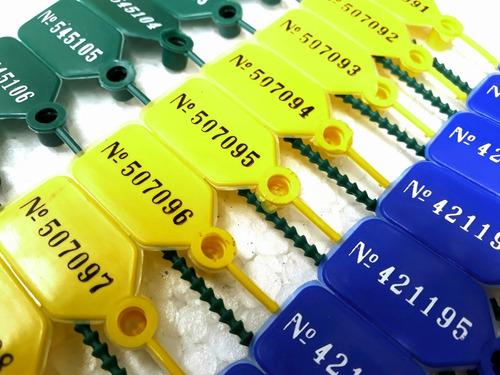 precintos seguridad cola raton 25cm plastico numerados x1000