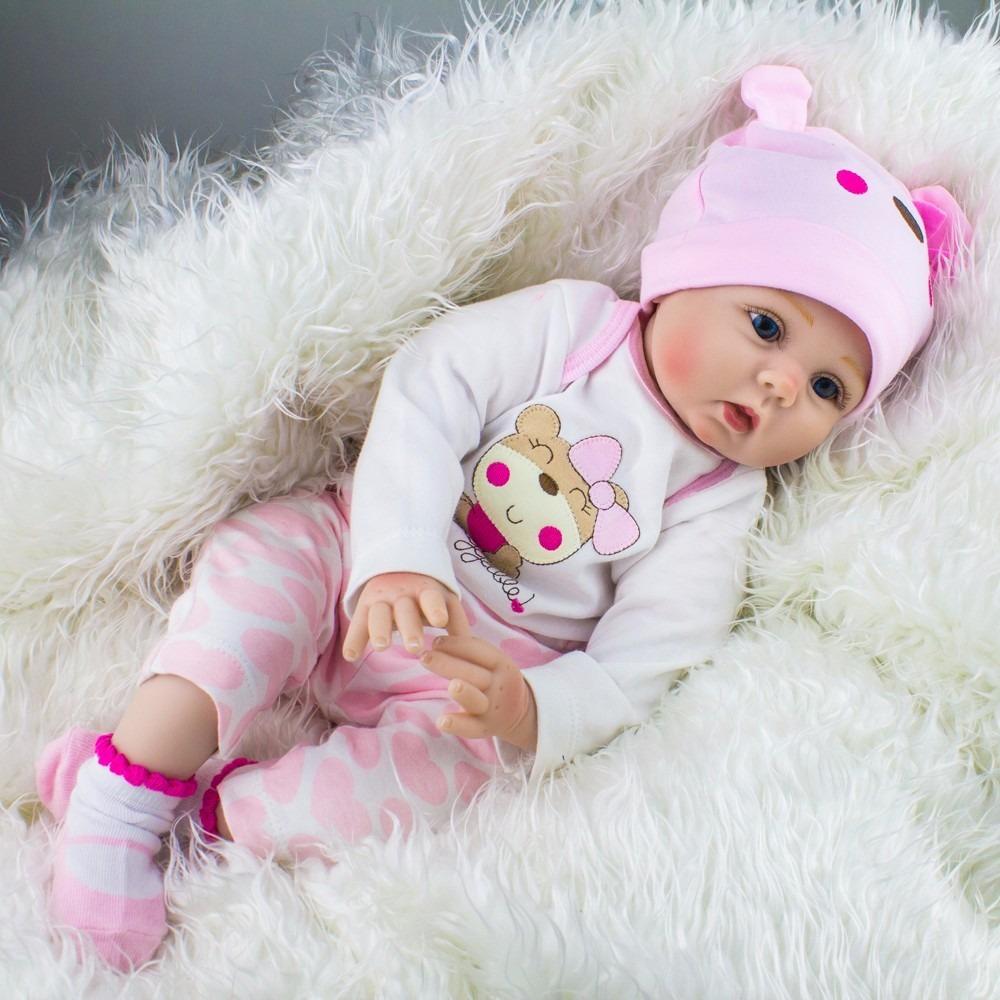 preciosa bebe reborn 57 cm silicon y tela. Cargando zoom. 3a870562dab