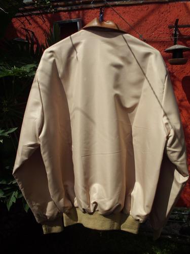 preciosa chamarra seda y piel emporio gde. nueva y  original