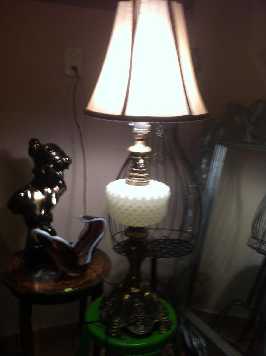 Preciosa lampara antigua cristal de leche a os 40 s - Lamparas de cristal antiguas ...