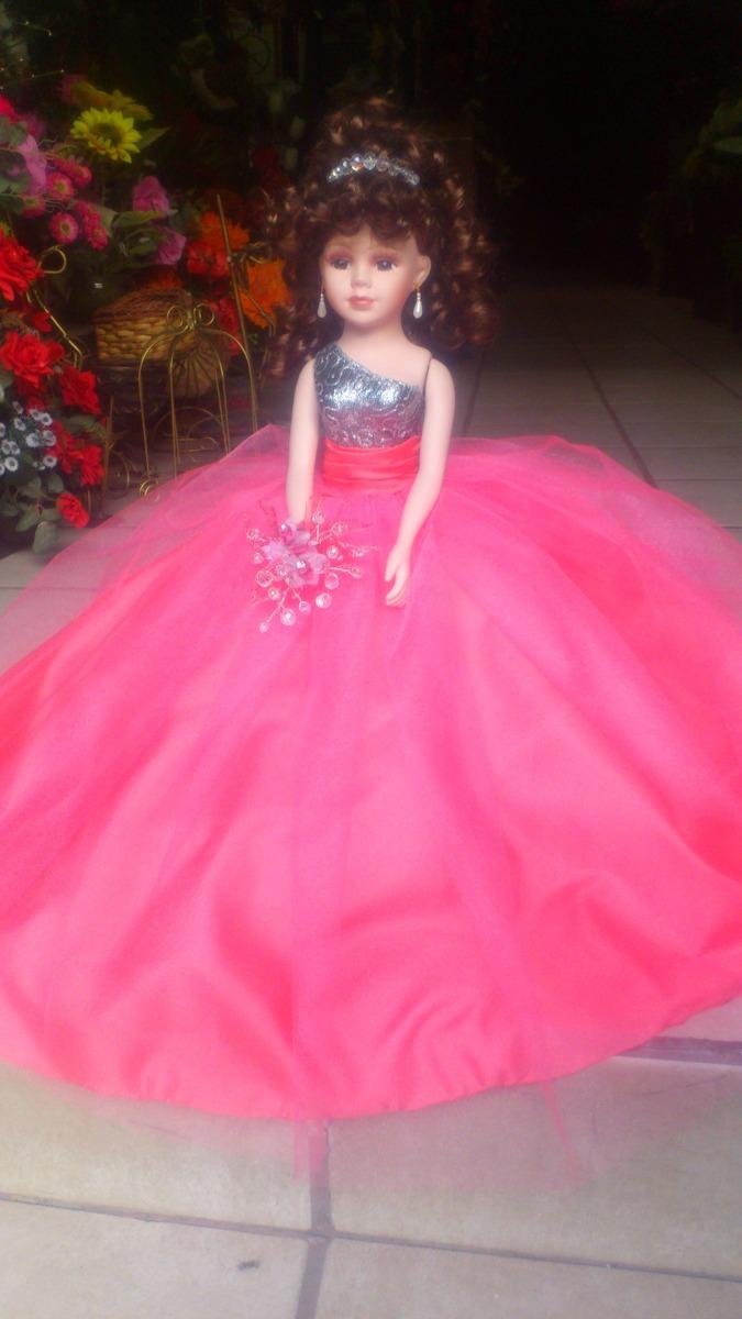 Preciosa Muñeca De Porcelana Para Xv Años Vestido Liso - $ 1,195.00 ...