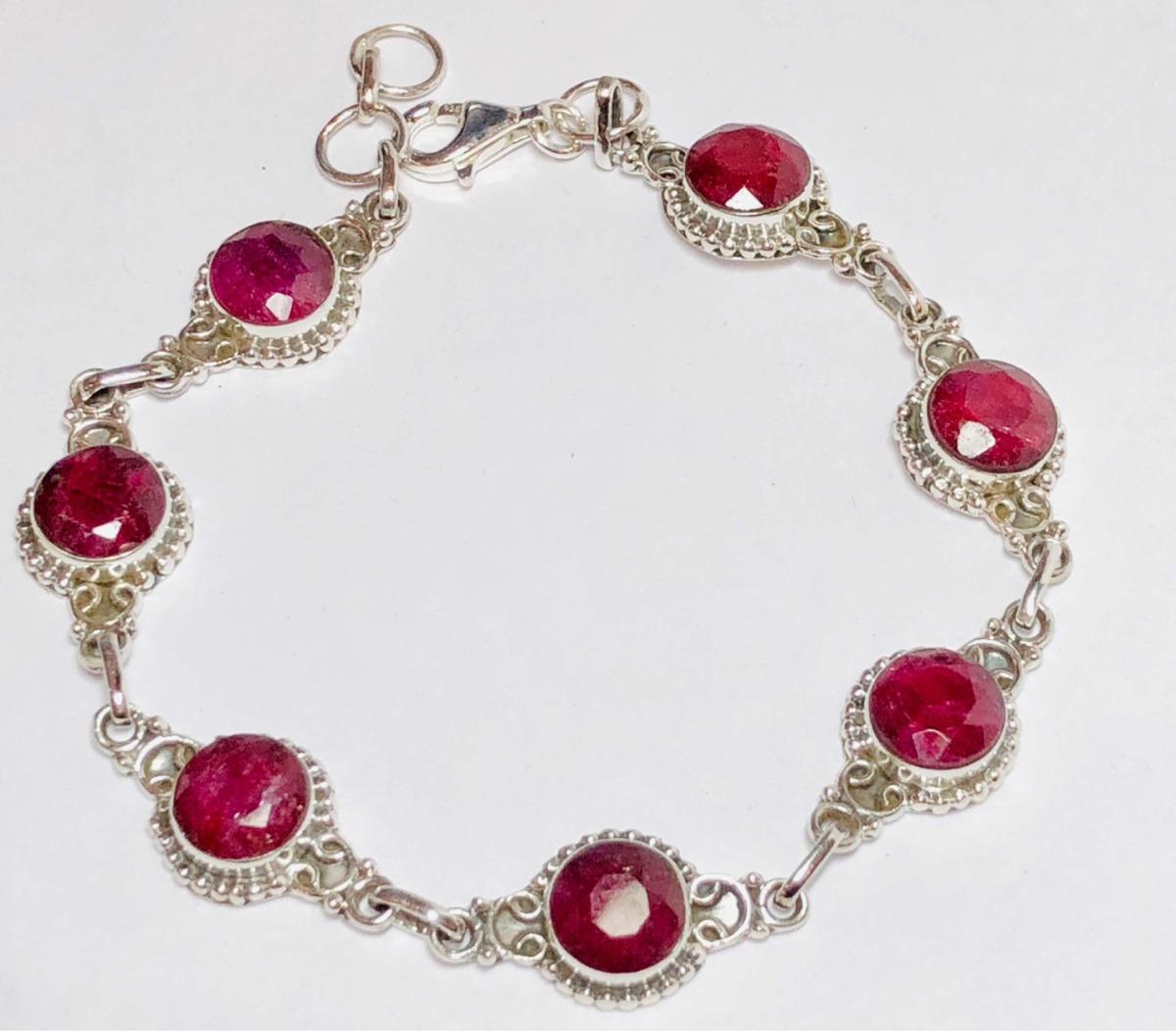 b35404e7f2ee preciosa pulsera de plata 925 y rubíes naturales j. alvear. Cargando zoom.