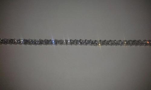 preciosa pulsera de plata ley 925  con hermosa pedrería