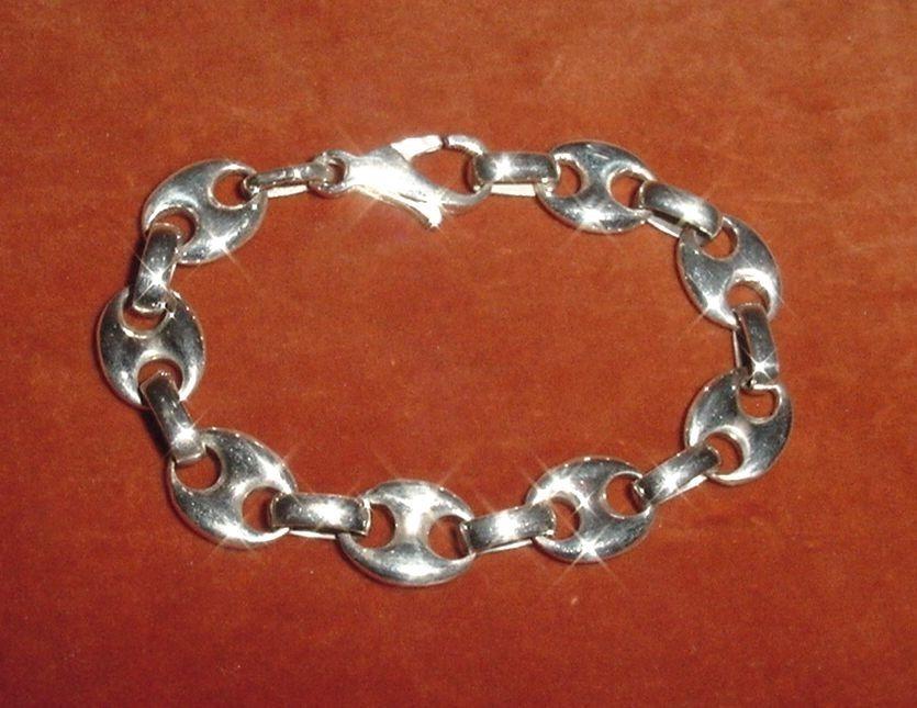 0a33999113e7 preciosa pulsera plata 925 eslabones de estilo 17 cm largo. Cargando zoom.