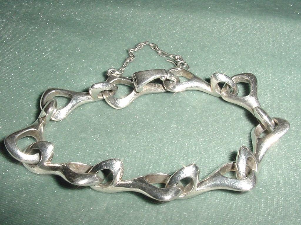 76132387c76b preciosa pulsera plata 925 raro cierre cadena de seguridad. Cargando zoom.