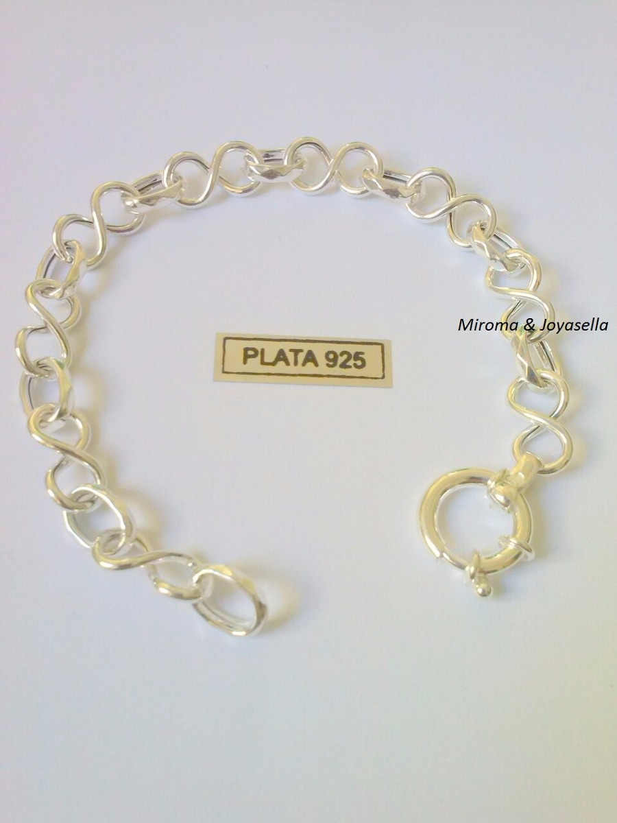 303fb026a770 preciosa pulsera plata con infinito hermosa!!! Cargando zoom.