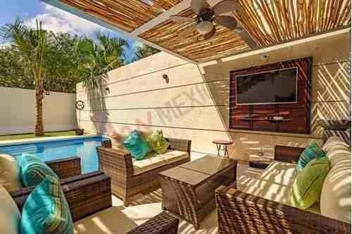 preciosa residencia en el más exclusivo fraccionamiento, de playa del carmen  playa magna