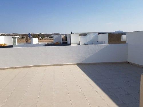 preciosa residencia en zen house, roof garden, 3 recamaras, estudio, 4.5 baños..