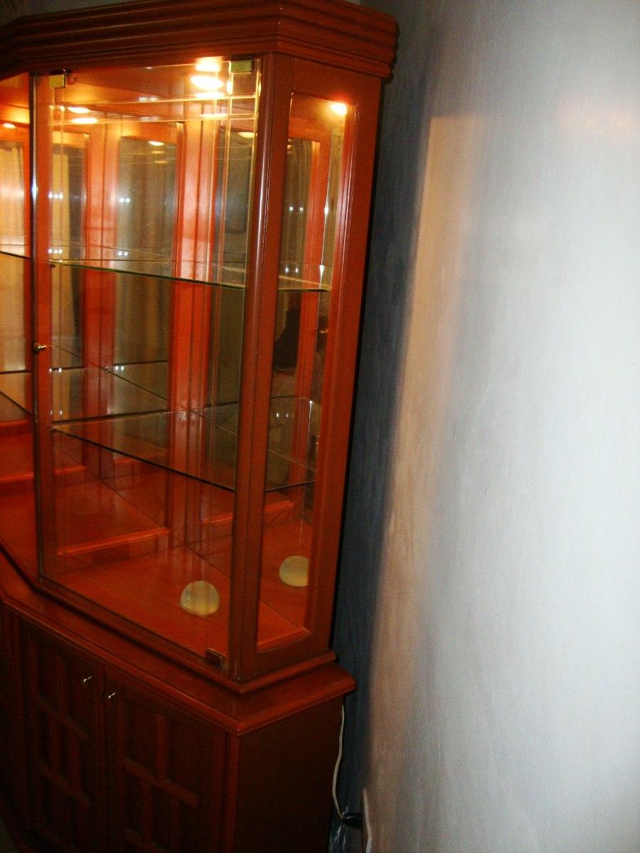 Preciosa vitrina madera ceibo con vidrio y luces bs 2 - Vitrinas de madera y vidrio ...