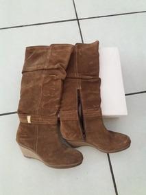 338fb852d Bota Larga De Gamuza Color - Zapatos de Mujer en Mercado Libre México