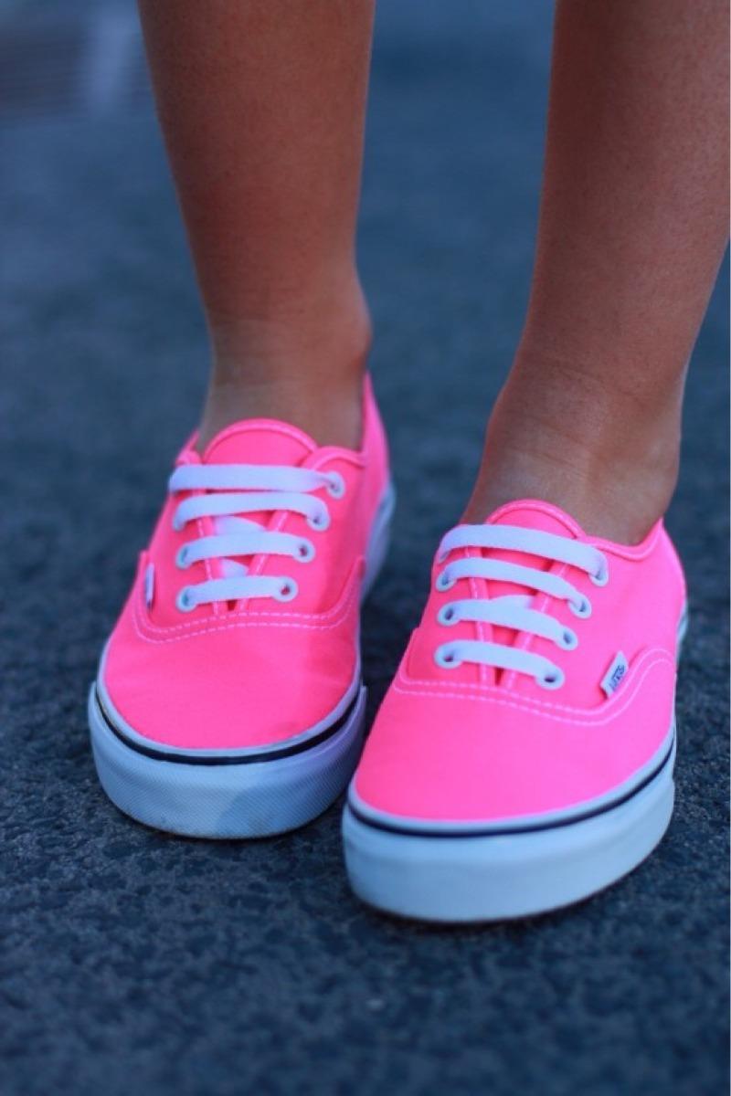 imagenes de zapatos vans rosados