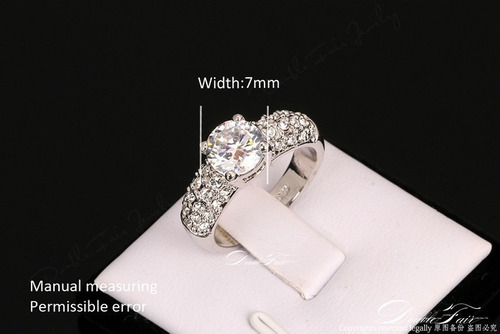 precioso anillo compromiso  plata/platino y bañados oro rosa