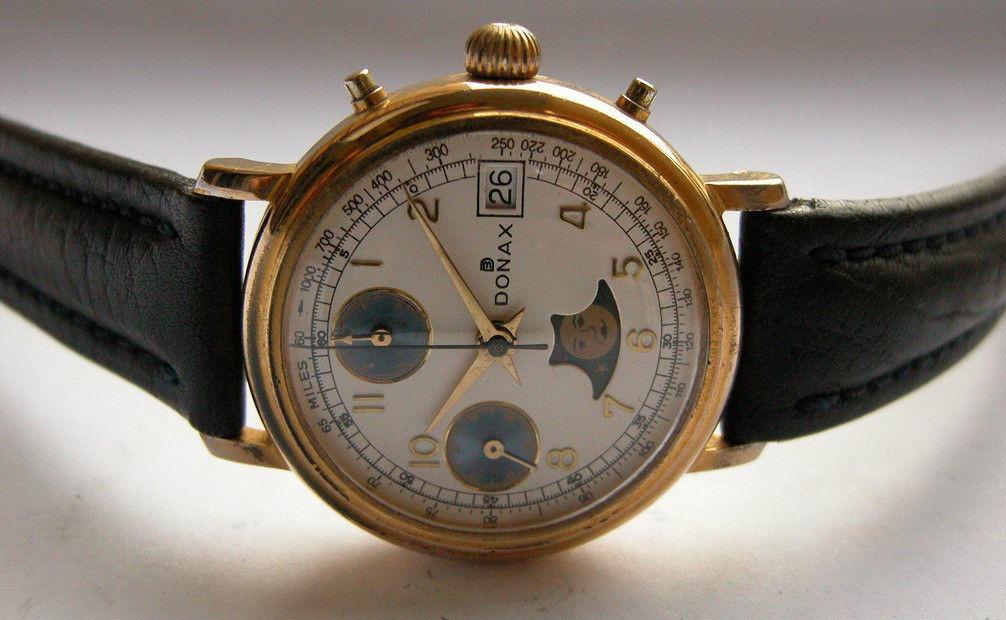 b6da32c2fbdd precioso antiguo cronógrafo suizo fase lunar valjoux 7768. Cargando zoom.