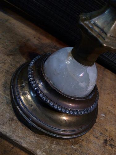 precioso candelero portavelas estilo art nouveau bronce