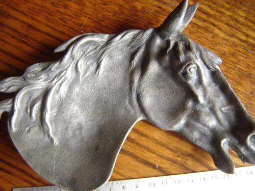 precioso cenicero aleman charola de estaño autentico caballo