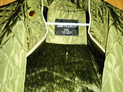 precioso chaleco verde oliva lee hanton 3xl para llenitas