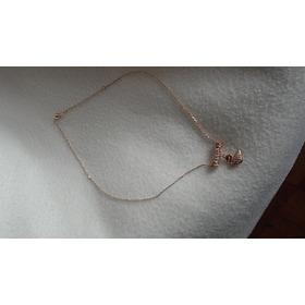 Precioso Collar Oro 18 Kt Enchapado Y Cristales Swarovski.