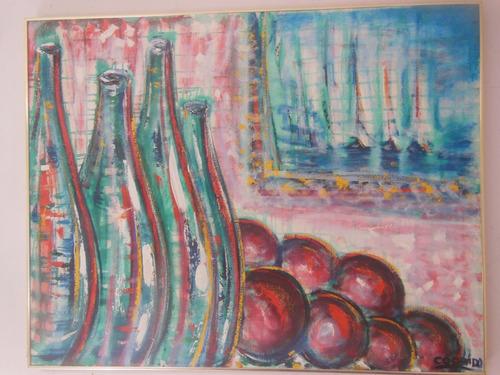 precioso cuadro pintura óleo bodegón de francisco codecido