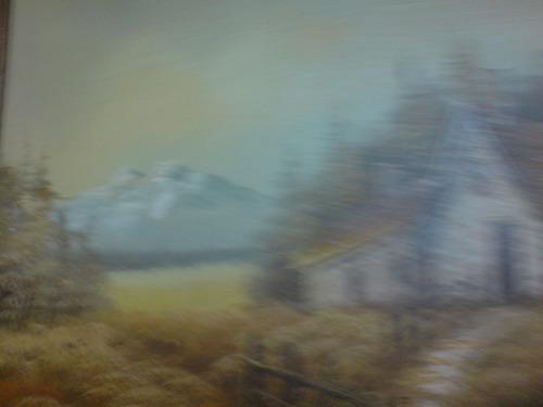 precioso paisaje. pintura al óleo. firmada.