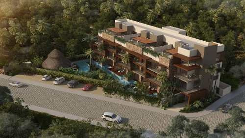 precioso penthouse en desarrollo boutique dentro de aldea zama, tulum