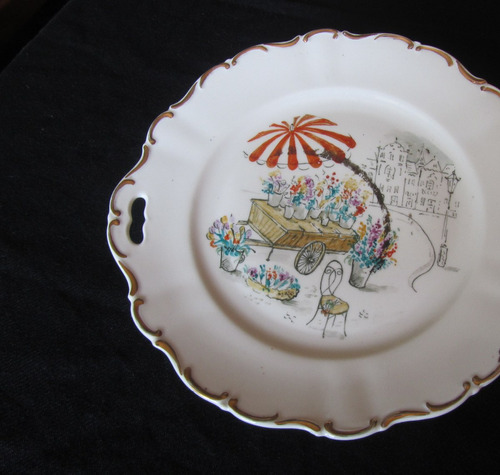 precioso plato bandeja decorativo porcelana seltmann weiden