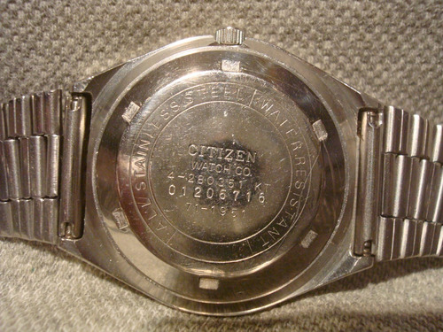 precioso reloj citizen automatic 71-1951 año 1974 impecable!