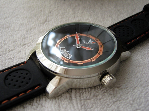 precioso reloj emporio armani caucho grande subasta  1 peso