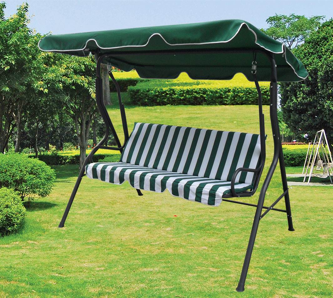 Precioso sill n hamaca para jard n con toldo en ca o y for Lonas para jardin