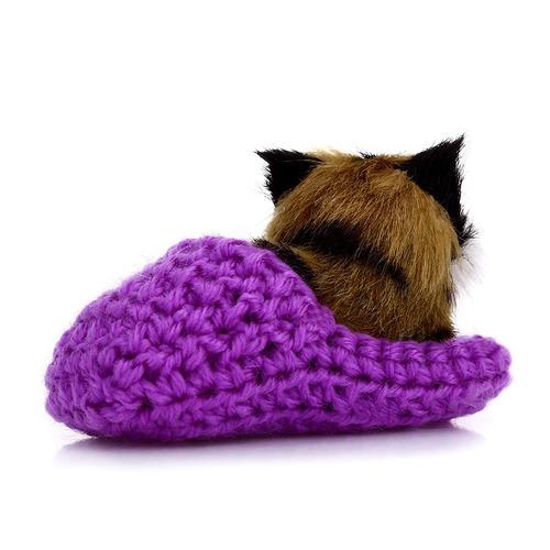 precioso simulación de sonido agachado gato de juguete de f